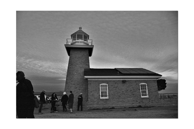 Mark Abbott Memorial Lighthouse 6 Santa Cruz, Ca. Lighthouse Lighthouse _Collection Lighthouse Point Steamer Lane West Cliff Drive Lighthouse_lovers Monochrome_Photography Monochrome Black & White Black & White Photography Black And White Black And White Collection  People Gathering Sunset Sundown Silhouettes Architecture Tower Beacon Landscape_Collection Landscape_photography Sky And Clouds Travel Destinations