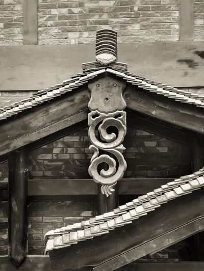 Architectural details in black and white Roof Tiles Lines Black And White Monochrome Travel Roof Lines Carving Architectural Detail Chinese Architecture Architecture Day Built Structure No People Outdoors Building Exterior Shape The Architect - 2018 EyeEm Awards