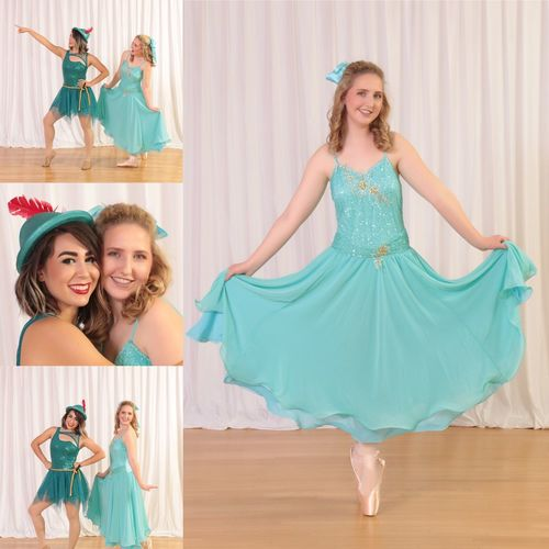 Out Of The Box Peter Pan And Wendy Looking At Camera Smiling Young Adult Standing Happiness Pointe Shoes Beauty Ballet
