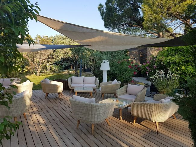 Outdoors Garden Lifestyle Patio Furniture Decking Sail Shaped Shades