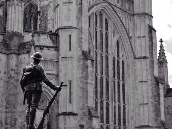 Dedicated to the Unknown Soldier at Winchester Cathedral in Winchester Blackandwhite Monochrome