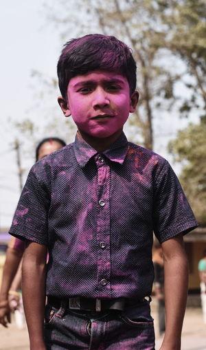 A colourful child.