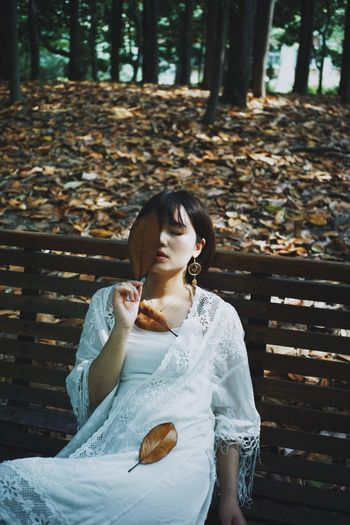 This Is My Skin Young Adult Sitting One Person Bench Relaxation Seat Nature Young Women Leisure Activity Tree Women Lifestyles Three Quarter Length Adult Brown Hair Day Park Bench Outdoors Casual Clothing Hairstyle Naturephotography Natural Beauty People Of EyeEm Peoplephotography