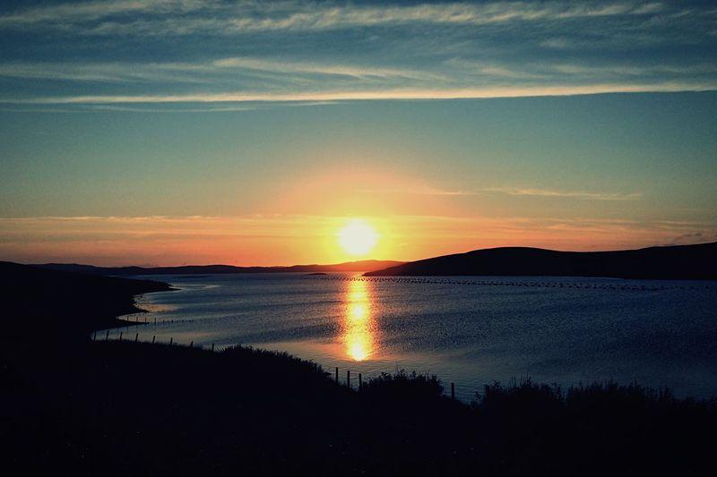 Sunset from my kitchen window Shetland Scotland Sunset Sea Sky First Eyeem Photo