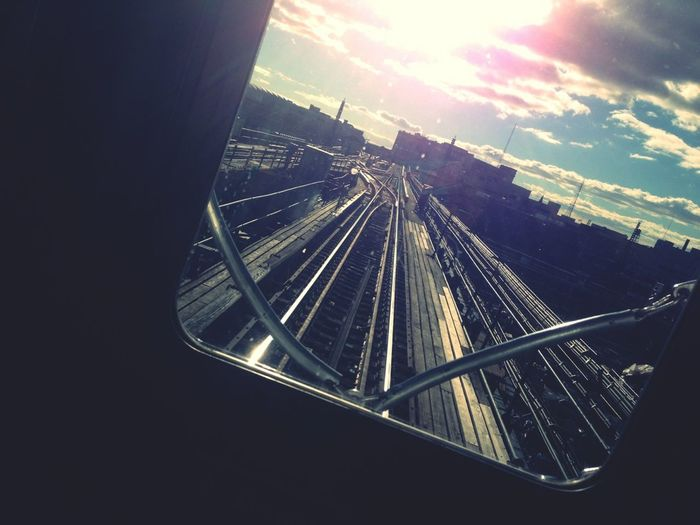 On my way back home from school! #first #car #7 #train #mainst #to #timessq #beautiful #day #out #omw #to #see #my #bitch #mary
