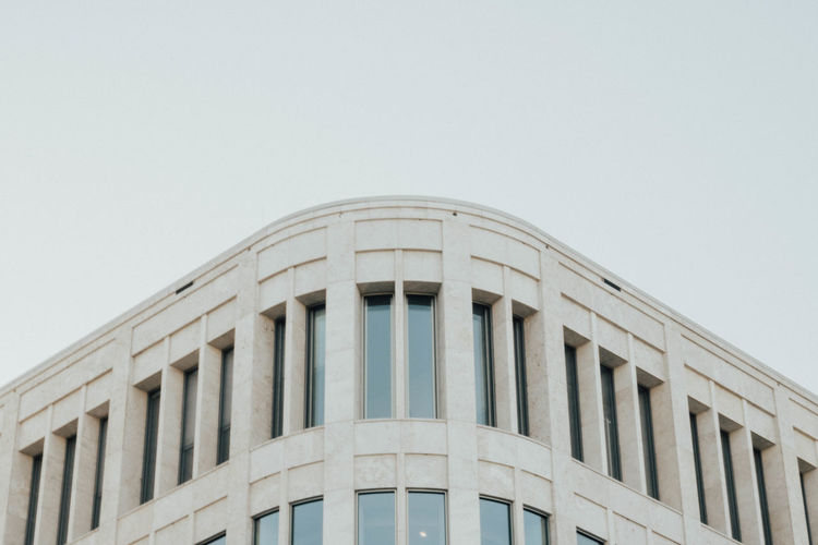 Architectural Column Architecture Building Building Exterior Built Structure City Clear Sky Courthouse Day Glass Glass - Material Government Low Angle View Minimalism Modern Nature No People Outdoors Sky Window The Architect - 2018 EyeEm Awards