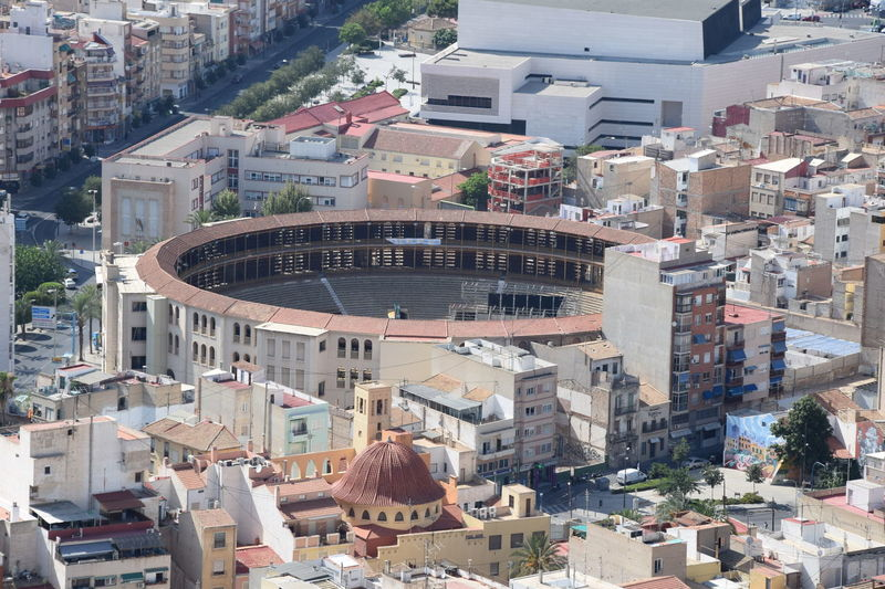 Alicante Architecture Arene Building Exterior Built Structure Bullring City Cityscape Corrida Day High Angle View No People Outdoors Taureaux Toros