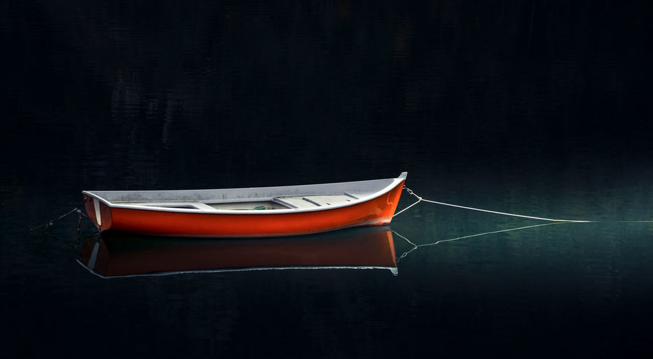 Black Background No People Water 2017 Autunno  Eltano86 Freshness D800 Nikon Nautical Vessel Boat Boats Boats⛵️ Barça Reflection Riflesso Relaxing Valvestino Red Light Light And Shadow Day