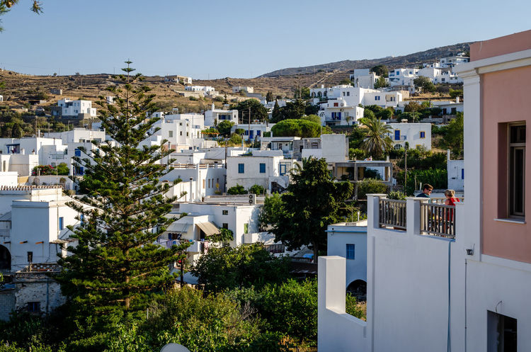 Aspect of Lefkes, Paros Paros Architecture Blue Building Exterior Built Structure Cityscape Clear Sky Cyclades Day Greece House Lefkes Modern Mountain No People Outdoors Residential Building Traditional Tree