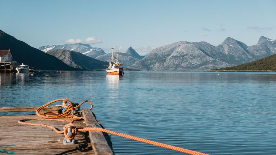 Mountain Water Nature Mountain Range Nautical Vessel Lake Outdoors Transportation Scenics Beauty In Nature Tranquil Scene Day No People Tranquility Sky Norway🇳🇴 Fishing Boat Embracing EyeEmNewHere