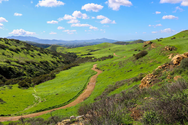 Beautiful California Exercise Foothills Hiking Horizon View Serenity Vista Beauty In Nature Day Grass Green Color Jogging Landscape Lone Runner Mountain Nature Outdoors Peaceful Scenics Sky Trail Tranquil Scene Tranquility
