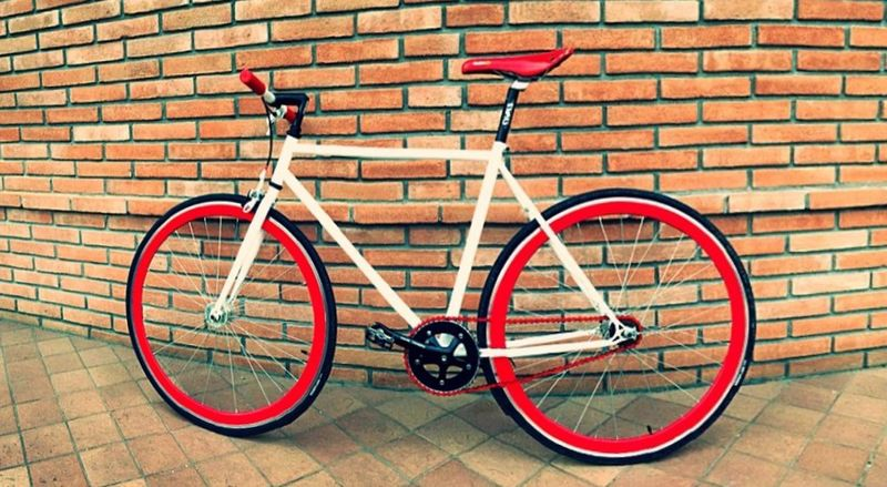 My Fixed Bike Red and White IPhoneography Enjoying Life Panorama Eye4photography  Love Breakfast