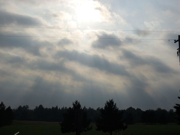 Skylovers Check This Out Sunrays Through The Clouds After The Storm Cool Tustin Pure Michigan