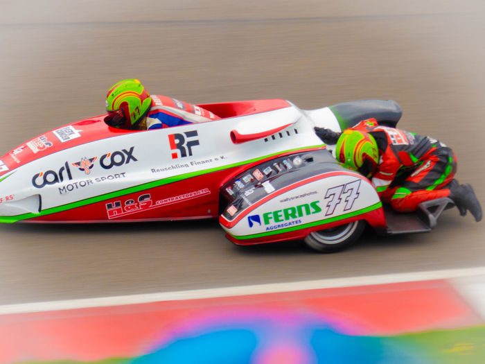 Sidecar Racer Close-up Communication Competition Day Mode Of Transportation Motion Motorcycle Racing Number Sidecar Motorcycle Speed Sport Sports Race Transportation Tt Assen