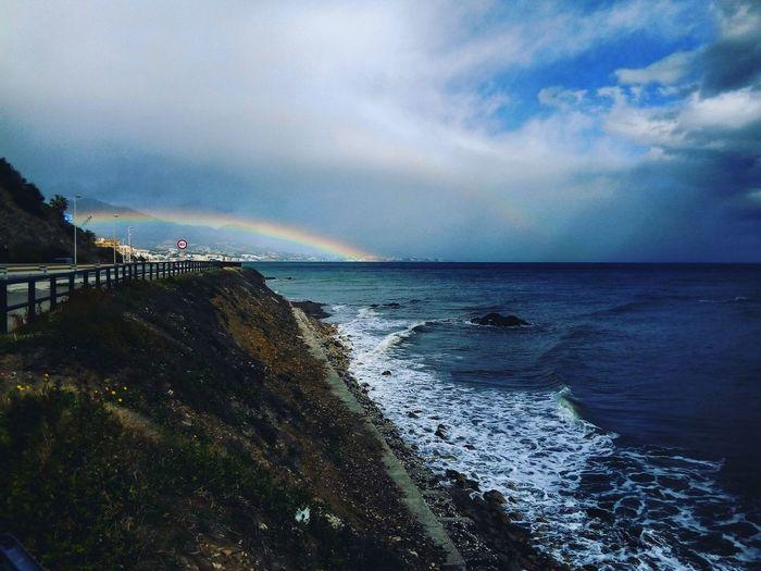 Rainbow See Montain