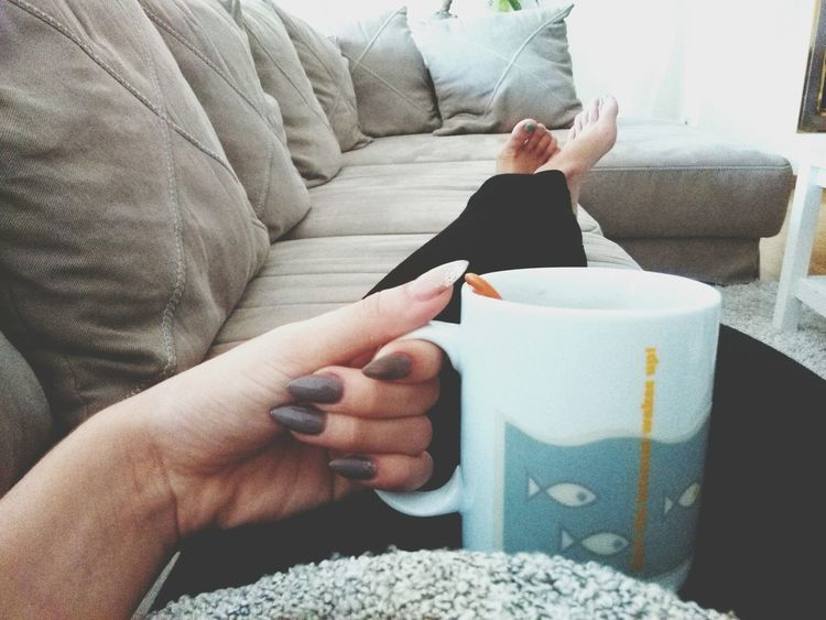 Relaxing Teatime Nails Good Morning!