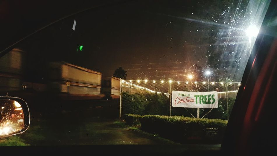 Stopped by the train, again. MARYSVILLE WA. Night Car Tistheseason Tistheseasontobejolly Christmas Tree Christmas Decorations Christmas Lights Train - Vehicle Trains Trainspotting Train Rainy Night Incarpics Rainy Season Stop Light Rear-view Mirror Rearview Rearviewmirrorshot Adventures In The City