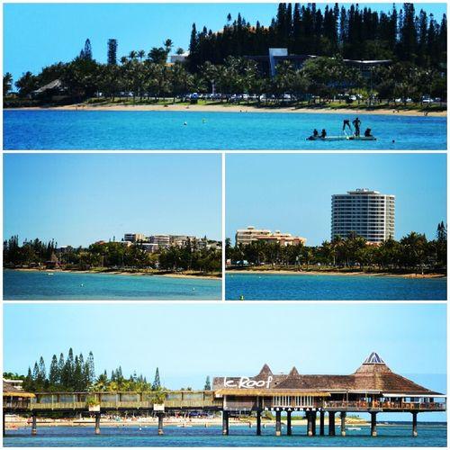 Anse Vata Beach , in Noumea New Caledonia ... Blue sea + blue sky ...
