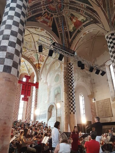Indoors  Religion Arch Ceiling Architecture Low Angle View Spirituality Day Altar Classical Music Concertlivemusic Concerts & Events Piedmont Italy Langhe City Life My City Alba Italy San Domenico Church