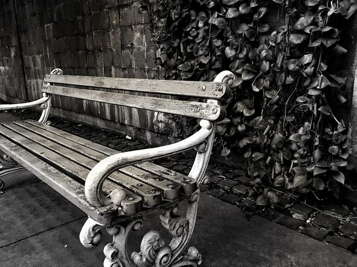Everyone favorites place Blackandwhite Social Networking Jakarta Waiting Bench Day Absence Seat Wood - Material Outdoors Park - Man Made Space Musical Instrument Close-up No People