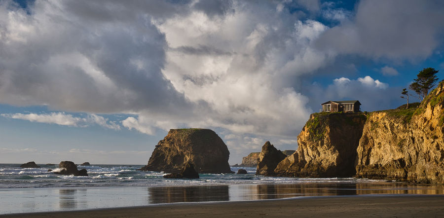 House on a cliff overlooking a beautiful set of california sea stacks California Coast Cloudscape Coastline Landscape Jeff Sinnock Nature Photography Stormy Weather Art Cliff House Coast Fine Art House On A Hill Landscape_photography Ocean Pacific Ocean Sea Stacks Summer Road Tripping