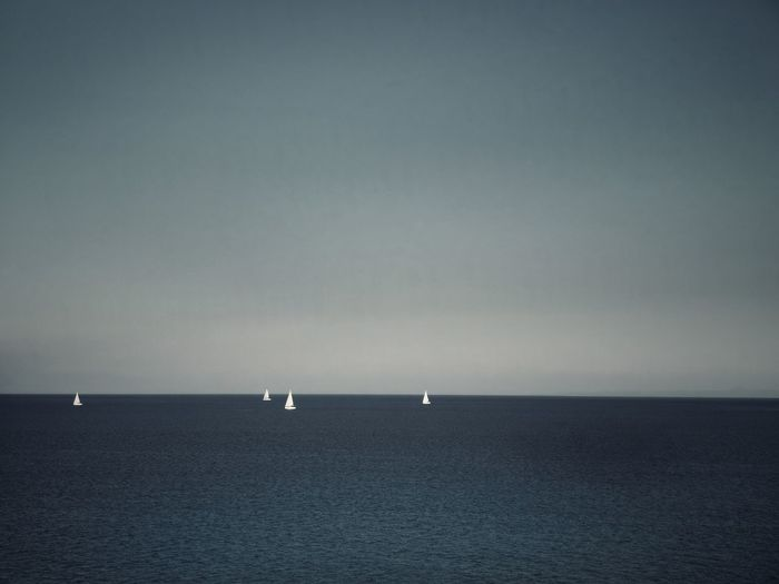 Sailing boats in the ocean