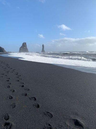 Black Beach Sea
