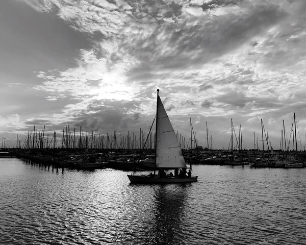 Traveling in Ashkelon Israel Cloud - Sky Sky Water Nautical Vessel Waterfront Sailboat Nature Built Structure Outdoors Architecture No People Mast Day Building Exterior Beauty In Nature Scenics Sailing Yacht Sailing Ship