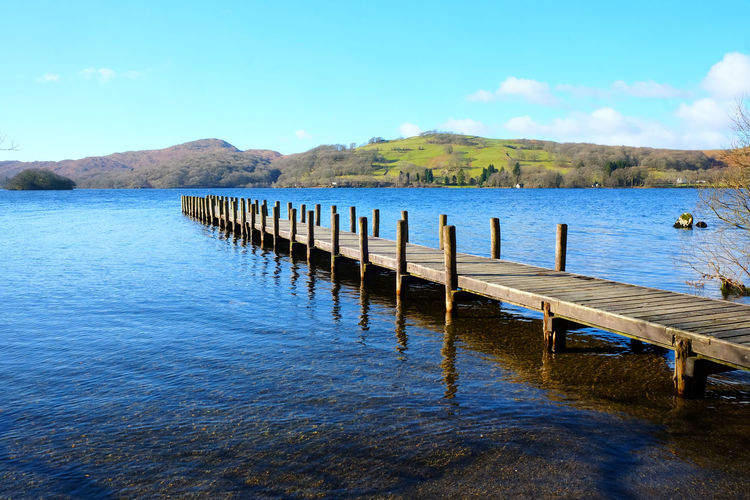 Coniston Waters Lake District Lake District National Park Pier Wintertime Coniston Coniston Water Deserted Jetty Lake View Lakeside Moored Way Forward