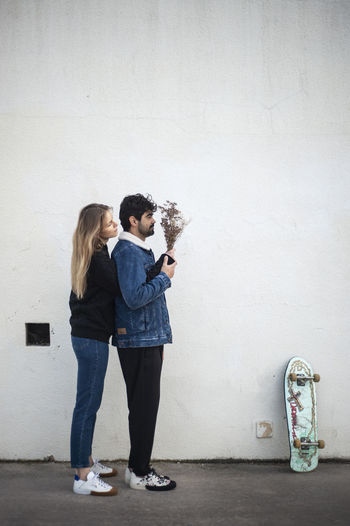 Skate life Two People Standing Casual Clothing Women Full Length Wall - Building Feature Real People Architecture Lifestyles Togetherness People Positive Emotion Leisure Activity Emotion Love Built Structure Holding Men Bonding Young Women Outdoors Couple - Relationship Hairstyle Barcelona Skate