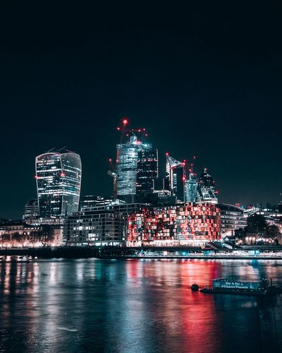 London Citylights Downtown Lakelife Nightphotography EyeEm Gallery EyeEm Best Shots Neon Lights London Mood Tones Depthoffield Building Exterior Night Architecture Built Structure Illuminated City Sky Water Waterfront Tall - High Cityscape Building Office Building Exterior Nature Skyscraper Reflection Modern No People Travel Destinations Outdoors