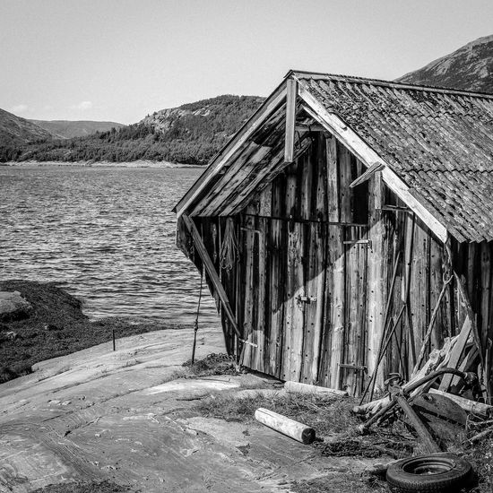 Blackandwhite Black And White Black & White Monochrome Seahouses Sea Eggesvik Boathouse Beauty Of Decay Old Buildings