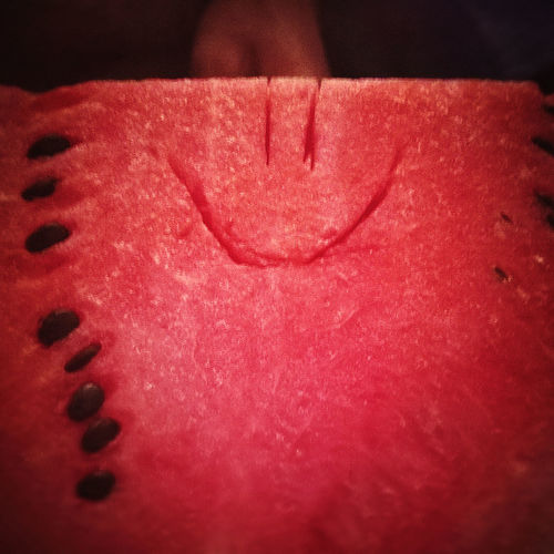 Close-up Detail Focus On Foreground Food Food And Drink Freshness Gorogdinnye Healthy Eating Heart Shape High Angle View Indoors  Melone No People Paper Pink Color Red Selective Focus Single Object Smile Still Life Summer Sweet Food Table Water Melon White Color