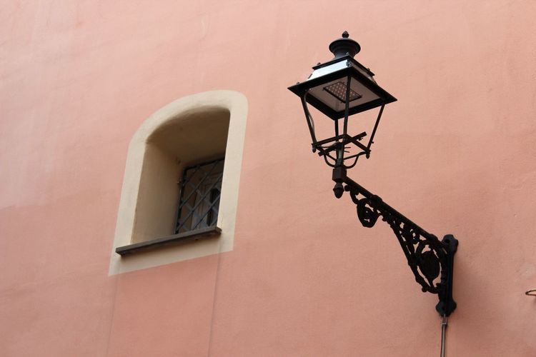 Low Angle View Of Wall Lamp
