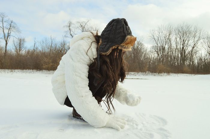 It's Cold Outside Snow Littlesister Winter Let Your Hair Down