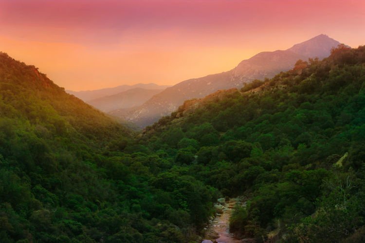Sunset in the mountains. California Sunset Mountains And Sky Sunset_collection Mountains And Valleys Green Color Bright Light Fine Art Photography
