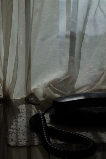 # #beautiful #blackandwhite #day #happy #Likes #likesforlikes #photography #shadows #sony #table #telephone Close-up Curtain Day Drapes  Fabric Indoors  No People Sheet Textile