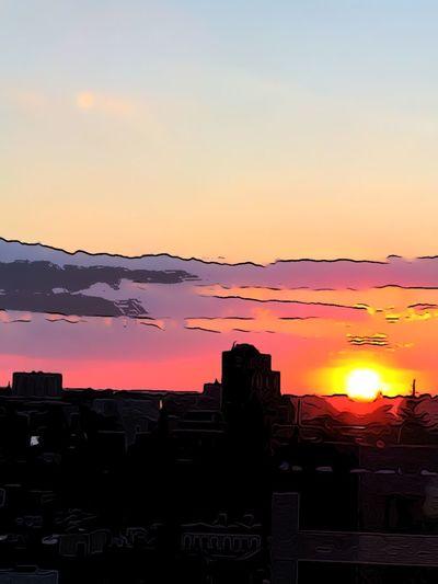 Sunset #sun #clouds #skylovers #sky #nature #beautifulinnature #naturalbeauty #photography #landscape Cartoon Effect  ChelseaNYC
