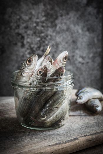 Raw small fish