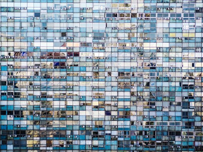Blue color palette Architecture And Art Palette Colors Window Collection Backgrounds Full Frame Pattern Built Structure No People Architecture Technology Wall - Building Feature Repetition Building Exterior Blue Outdoors Design Large Group Of Objects