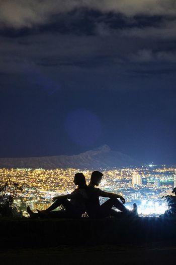 Romantic Citylights♥ Best EyeEm Shot Couple Honolulu  Diamond Head Honolulu City Lights Love ♥ Two People Night Cityscape