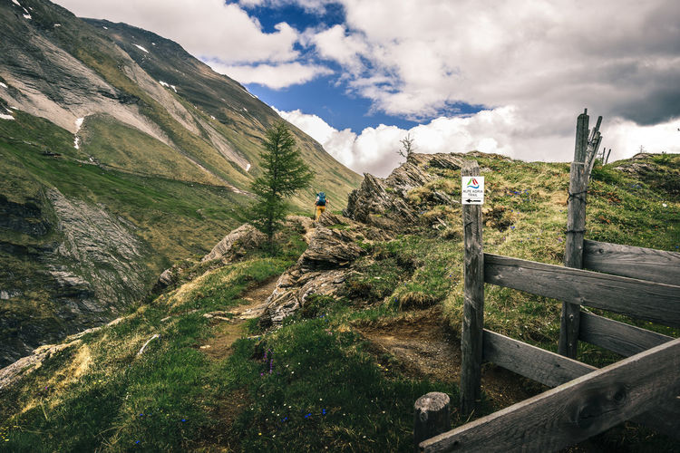 Walkin the Alpe Adria Trail in Austria Adventure Alpe Adria Trail Beauty In Nature Cloud - Sky Day Grass Hiking Hiking Trail Hikingadventures Landscape Mountain Mountain Range Nature Non-urban Scene One Person Outdoors Real People Scenics Sky Tranquil Scene Tranquility