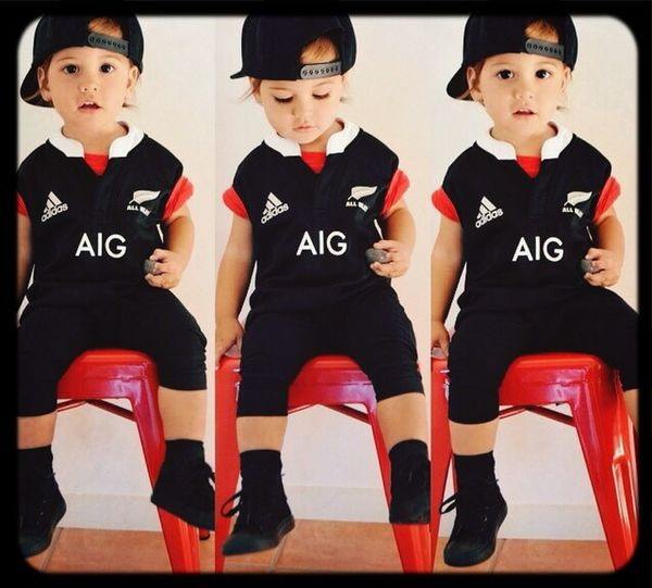 Future AllBlack !!!!!! Loves his new top from his father. ;D Cute♡ Babyswag