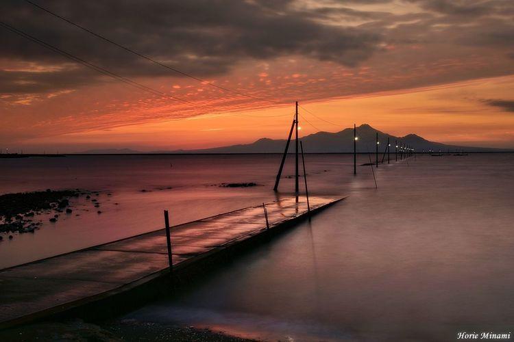 長部田海床路 EyeEm Best Shots EyeEm Selects EyeEmNewHere Long Exposure EyeEm Gallery Sunset Sky Water Cloud - Sky Sea Beauty In Nature Scenics - Nature Horizon Over Water No People