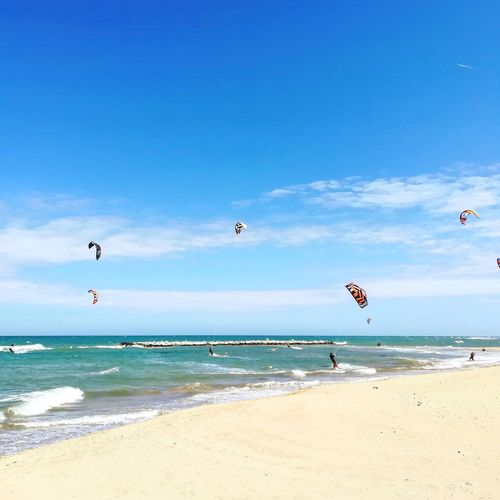 🌊🌊🌊🌊🌊 Sea Windsurfing Windsurf Bari Pane E Pomomodoro Beach Sea And Sky Seaside Paragliding Water Parachute Flying Extreme Sports Wave Multi Colored Beach Sport