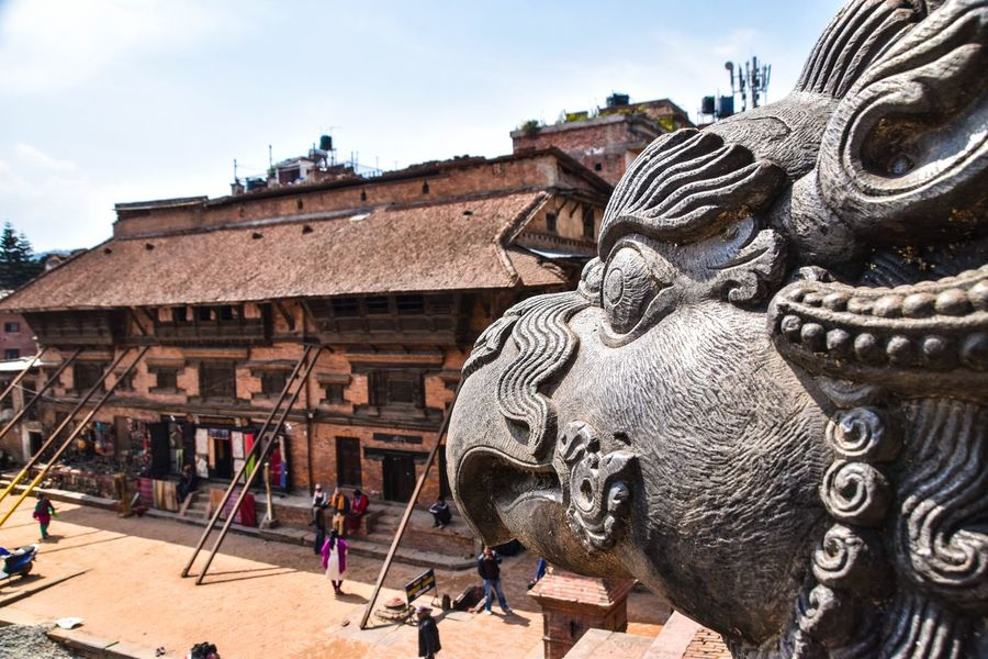 ASIA Nepal Travel Nepal Architecture Building Exterior Built Structure Sculpture Statue Day Outdoors