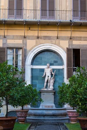 Florence Florence Italy Building Exterior Statue Human Representation Sculpture Built Structure Architecture Outdoors No People City Day