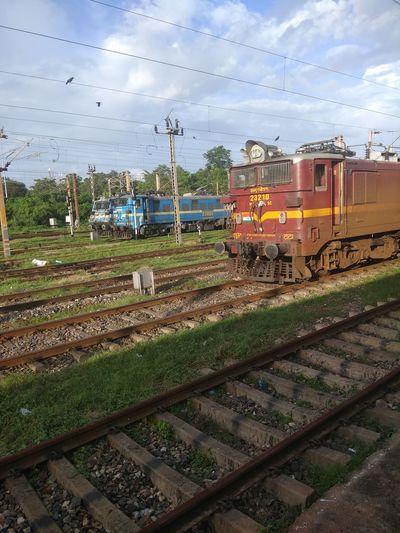 Railroad Track Rail Transportation Public Transportation No People Mode Of Transport