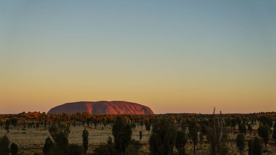 Uluru sunset 18-55mm Beauty In Nature Clear Sky Day Landscape Mountain Nature No People Outdoors Scenics Sky Sony A3000 Sunset Tranquil Scene Tranquility