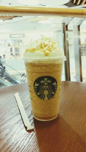 Summer's fav Starbucks Caramel Frappuccino ♡